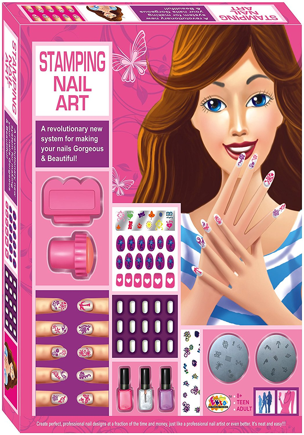 High Coin Multicolored Stamping Nail Art Highshopee